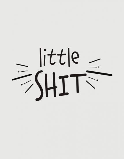 παιδικό φορμάκι με τύπωμα Little Shit