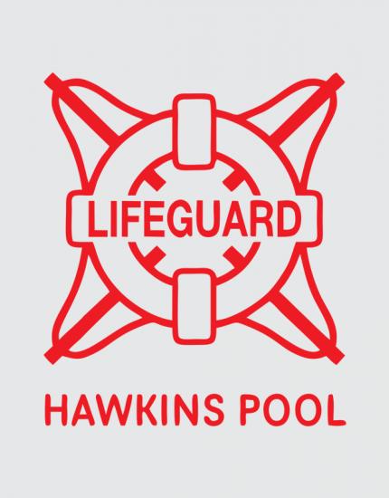 Μπλουζάκι με τύπωμα Hawkins Pool