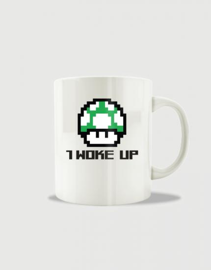 Κούπα κεραμική με στάμπα 1 woke up