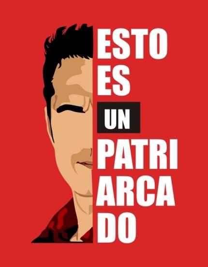 Ανδρικό t-shirt κόκκινο με στάμπα Esto es un Patriarchado
