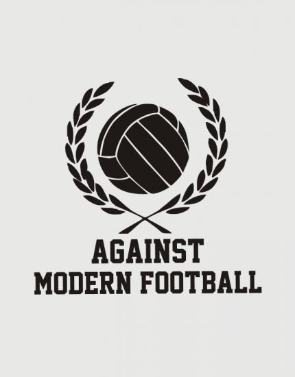 Καπέλο μαύρο Trucker Beechfield με στάμπα Against modern football