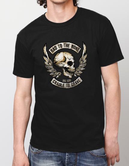 Μπλουζάκι με στάμπα Bad to the bone