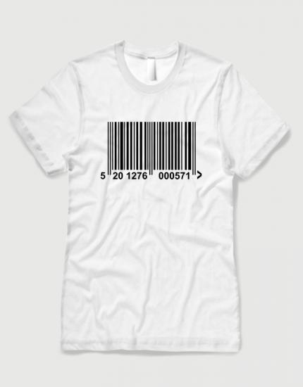 Μπλουζάκι με στάμπα barcode