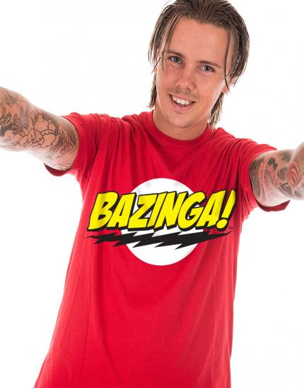 Μπλουζάκι με τύπωμα Bazinga