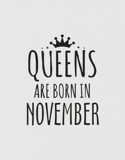 Μπλουζάκι με στάμπα Queens are born in November
