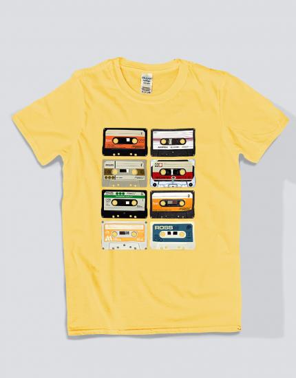 Μπλουζάκι με στάμπα Cassette Tapes