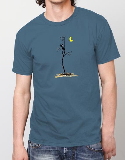 Μπλουζάκι με τύπωμα Cat in the dark