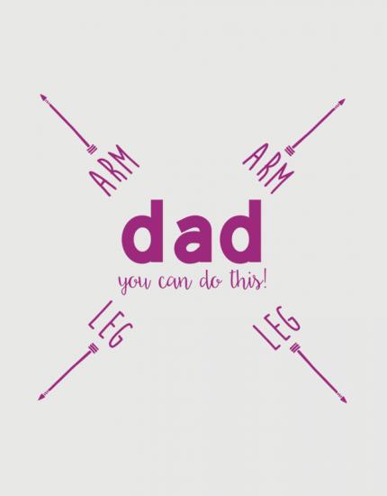Παιδικό φορμάκι με στάμπα Dad you can do this