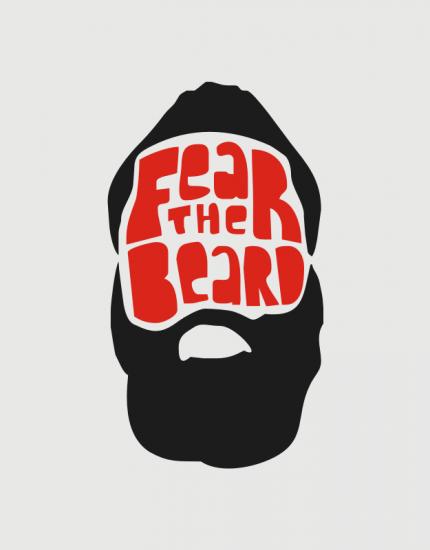 Αμάνικο φούτερ γκρι με τύπωμα Fear the Beard