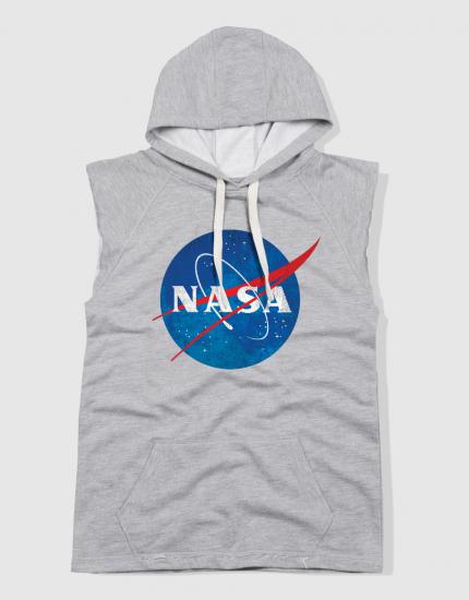 Αμάνικο φούτερ γκρι με τύπωμα NASA