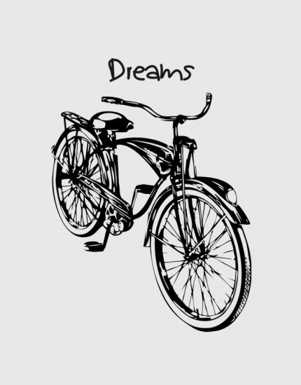 Υφασμάτινη τσάντα με στάμπα Dreams