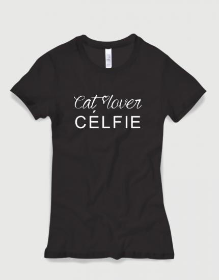 Μπλουζάκι με στάμπα Cat lover Celfie