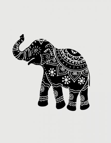 μαξιλάρι με στάμπα Indian Elephant