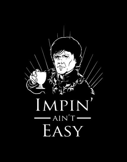 Μπλουζάκι με στάμπα Impin ain t easy