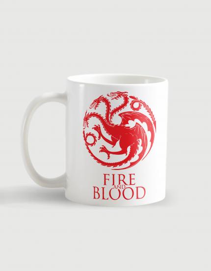 Κούπα κεραμική με τύπωμα Fire and Blood