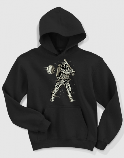 Hoodied φούτερ με στάμπα Space Baseball