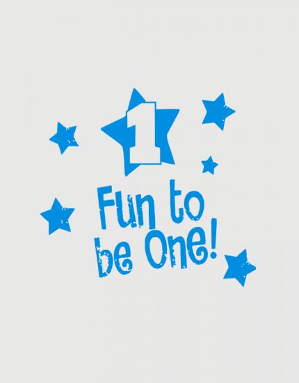 Παιδικό φορμάκι με στάμπα Fun to be one