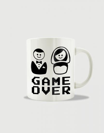 Κούπα κεραμική με τύπωμα Game over