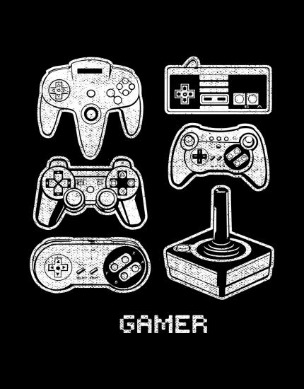 Μπλουζάκι με τύπωμα Gamer