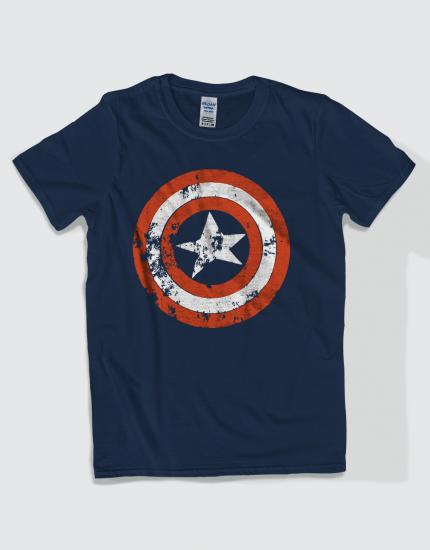 Μπλουζάκι με τύπωμα Captain America Distressed logo