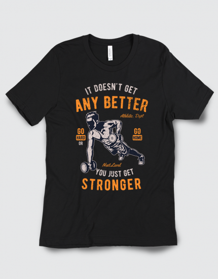 Μπλουζάκι με τύπωμα Go hard or go home