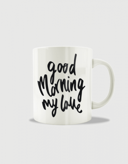 Κούπα κεραμική με στάμπα Good morning my love