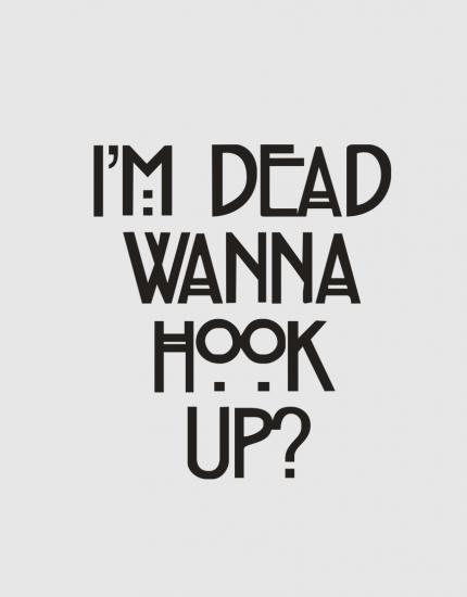 Μπλουζάκι με στάμπα  Wanna hook up?
