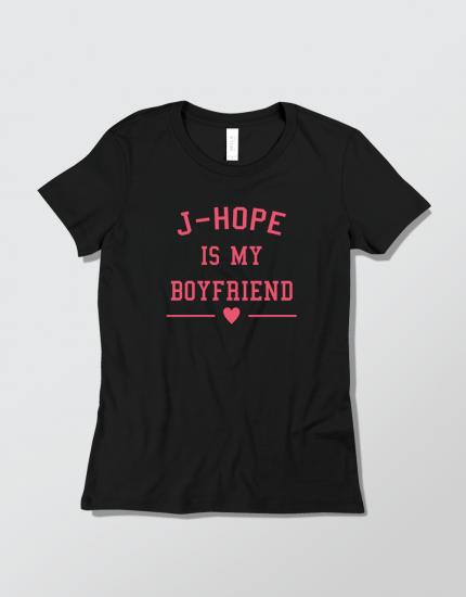 Μπλουζάκι με τύπωμα J-Hope is my boyfriend
