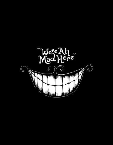 Hoodied φούτερ με στάμπα We are all mad here
