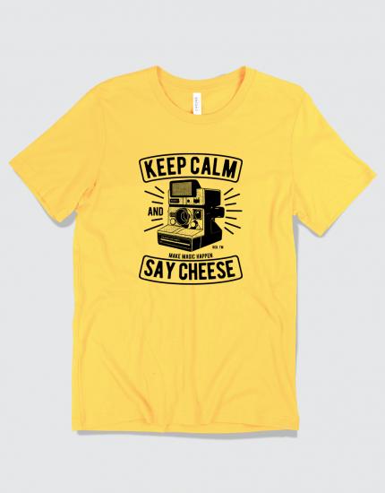 Μπλουζάκι με τύπωμα Keep Calm and say Cheese