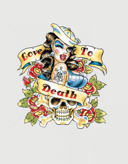 Μπλουζάκι με στάμπα  Love to death