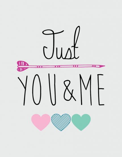 μαξιλάρι με στάμπα Just you & me