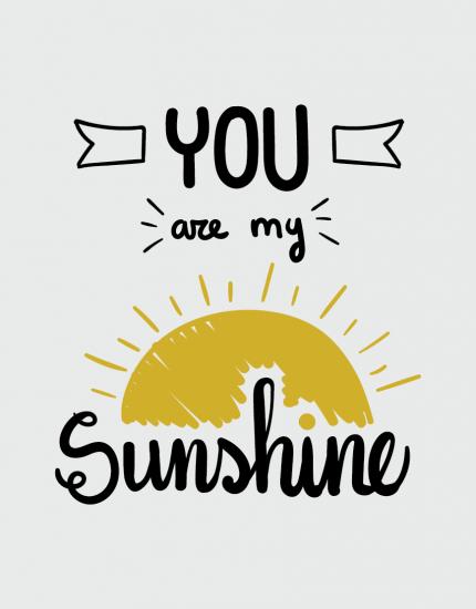 μαξιλάρι με στάμπα You are my sunshine
