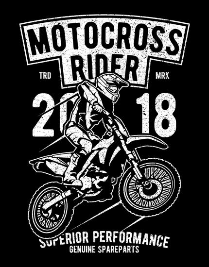 Μπλουζάκι με τύπωμα Motocross Rider
