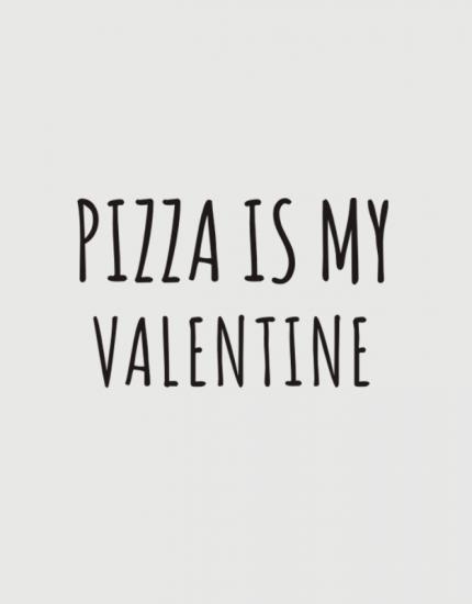 μαξιλάρι με στάμπα Pizza is my valentine