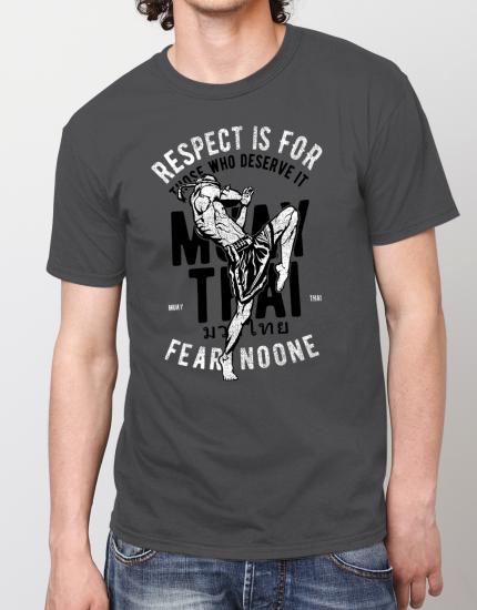 Μπλουζάκι με τύπωμα Respect is for those who deserve it