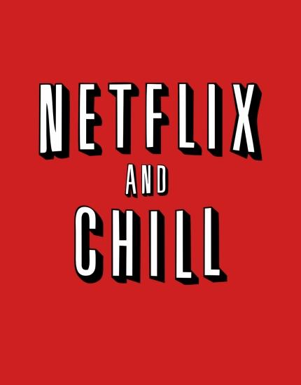 Μπλουζάκι με τύπωμα Netflix and Chill