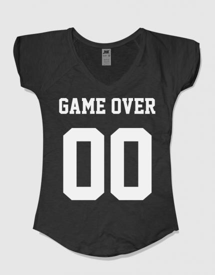 Μπλουζάκι με στάμπα GameOver 00