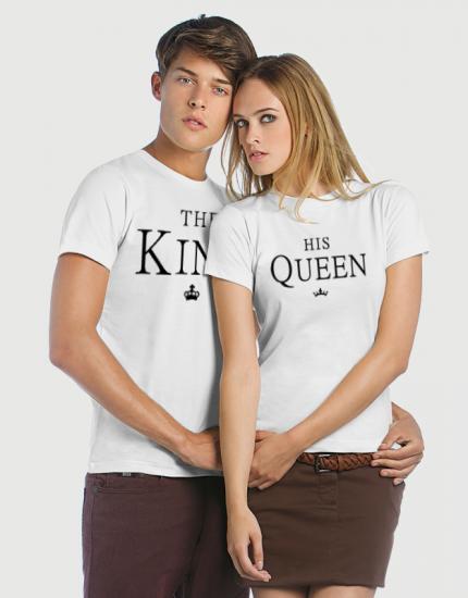 Μπλουζάκια με στάμπα The king - His queen