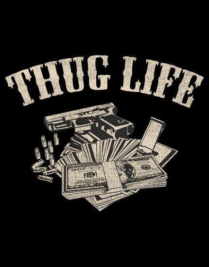 Μπλουζάκι με τύπωμα Thug Life