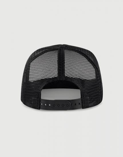 Καπέλο μαύρο Trucker Beechfield με στάμπα Tattooed, bearded and sexy