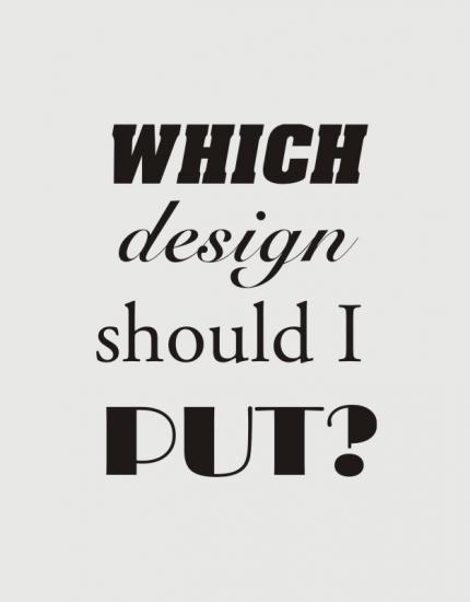 Μπλουζάκι με στάμπα Which design should i put?