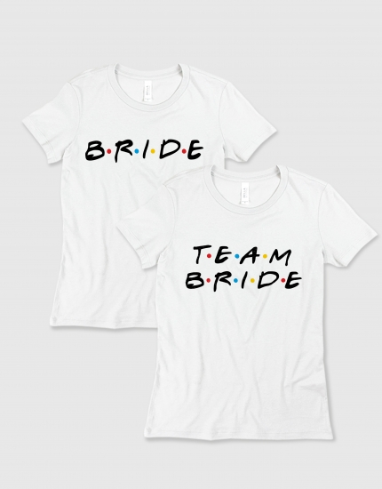 Μπλουζάκι με τύπωμα Bride-Team bride