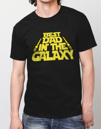 Μπλουζάκι με τύπωμα Best dad in the galaxy