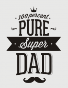Μπλουζάκι με στάμπα 100% Pure Super Dad
