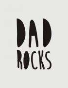 κούπα κεραμική λευκή Dad rocks