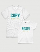 Σετ t-shirts λευκά Copy Paste