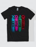 Μπλουζάκι με τύπωμα Eat Play Sleep Repeat