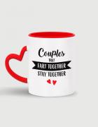 Κούπα κεραμική με τύπωμα Couples that fart together