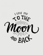 Μπλουζάκι με τύπωμα Love to the moon and back